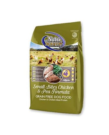 NutriSource Grain-Free Chicken & Pea Small Bites Dry Dog Food