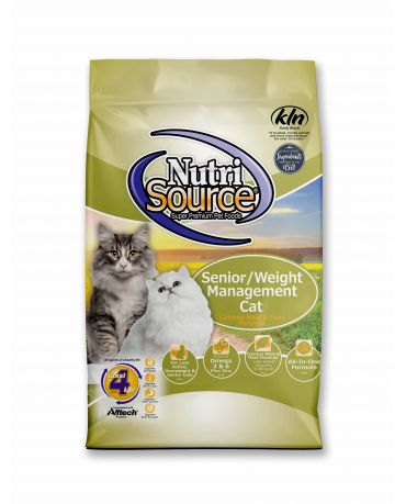Nutrisource Senior/Weight Management Dry Cat Food