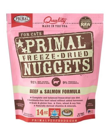 Primal Raw Freeze-Dried Beef & Salmon Formula Cat Food Nuggets