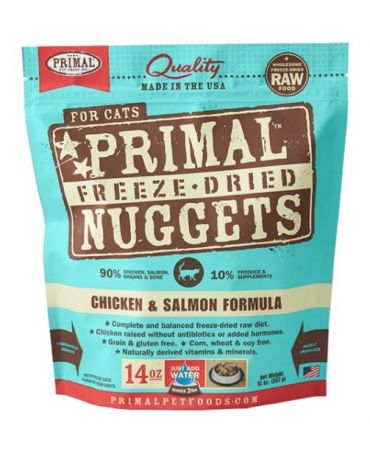 Primal Raw Freeze-Dried Chicken & Salmon Formula Cat Food Nuggets