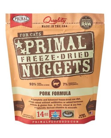 Primal Raw Freeze-Dried Pork Formula Cat Food Nuggets