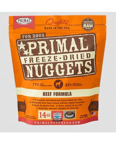 Primal Raw Freeze-Dried Beef Formula Dog Food Nuggets