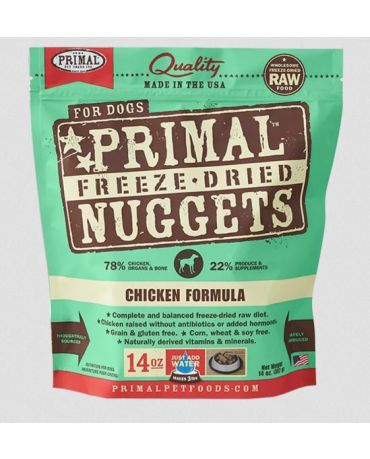 Primal Raw Freeze-Dried Chicken Formula Dog Food Nuggets