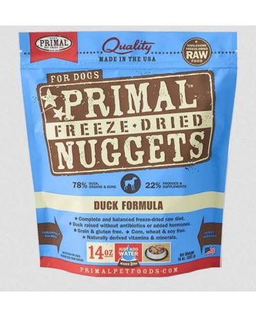 Primal Raw Freeze-Dried Duck Formula Dog Food Nuggets