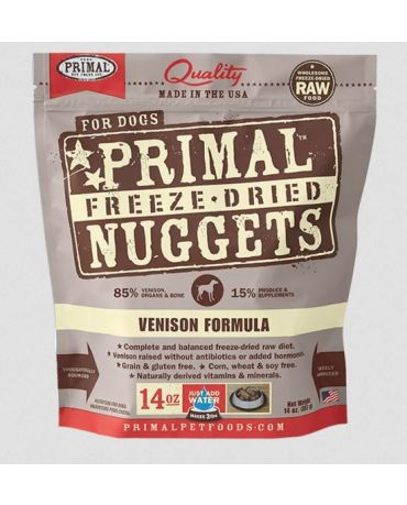 Primal Raw Freeze-Dried Venison Formula Dog Food Nuggets