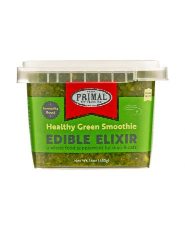 Primal Edible Elixir Healthy Green Smoothie Food Supplement for Dogs & Cats
