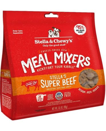 Stella & Chewy's Freeze-Dried Raw Super Beef Dog Food Meal Mixers