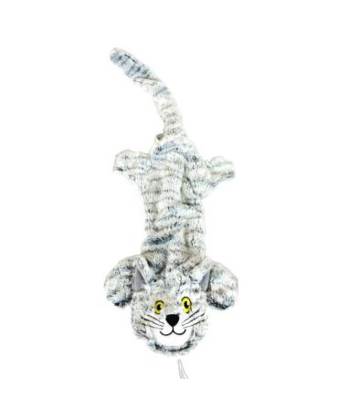 SteelDog Flat Cats Plush Dog Toy