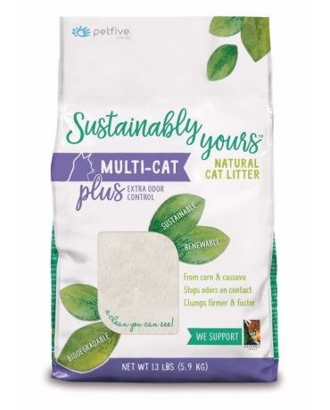 Sustainably Yours Natural Multi-Cat Litter Plus Extra Odor Control