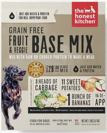 The Honest Kitchen Grain-Free Fruit & Veggie Base Mix Dehydrated Dog Food