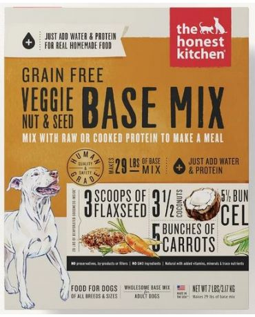 The Honest Kitchen Grain-Free Veggie, Nut & Seed Base Mix Dehydrated Dog Food