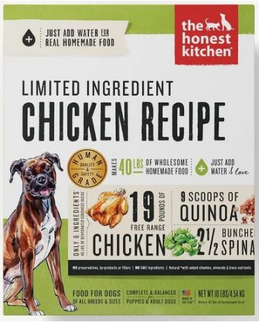 The Honest Kitchen Limited Ingredient Chicken Recipe Dehydrated Dog Food