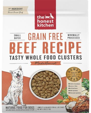 The Honest Kitchen Grain-Free Whole Food Clusters Beef Dry Dog Food