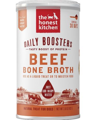 The Honest Kitchen Daily Boosters Instant Bone Broth Beef for Dogs