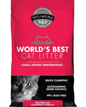 World's Best Cat Litter Clumping Multiple Cat Formula