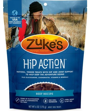 Zuke's Natural Hip Action Beef Recipe Dog Treats