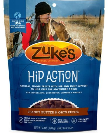 Zuke's Natural Hip Action Peanut Butter & Oats Recipe Dog Treats