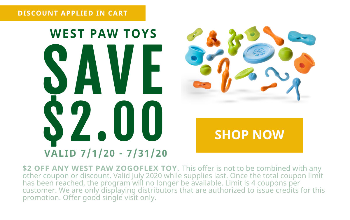 $2 off West Paw Zogoflex