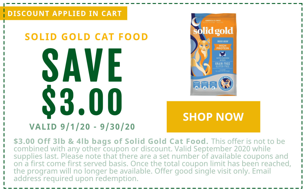 $3 off Solid Gold Cat Food